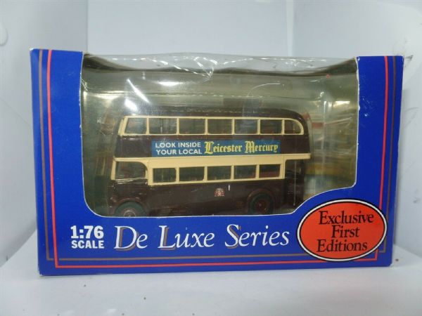 EFE 15901DL Leyland Titan PD1 Bus Leicester City DeLuxe Brown Cream Mercury MIB